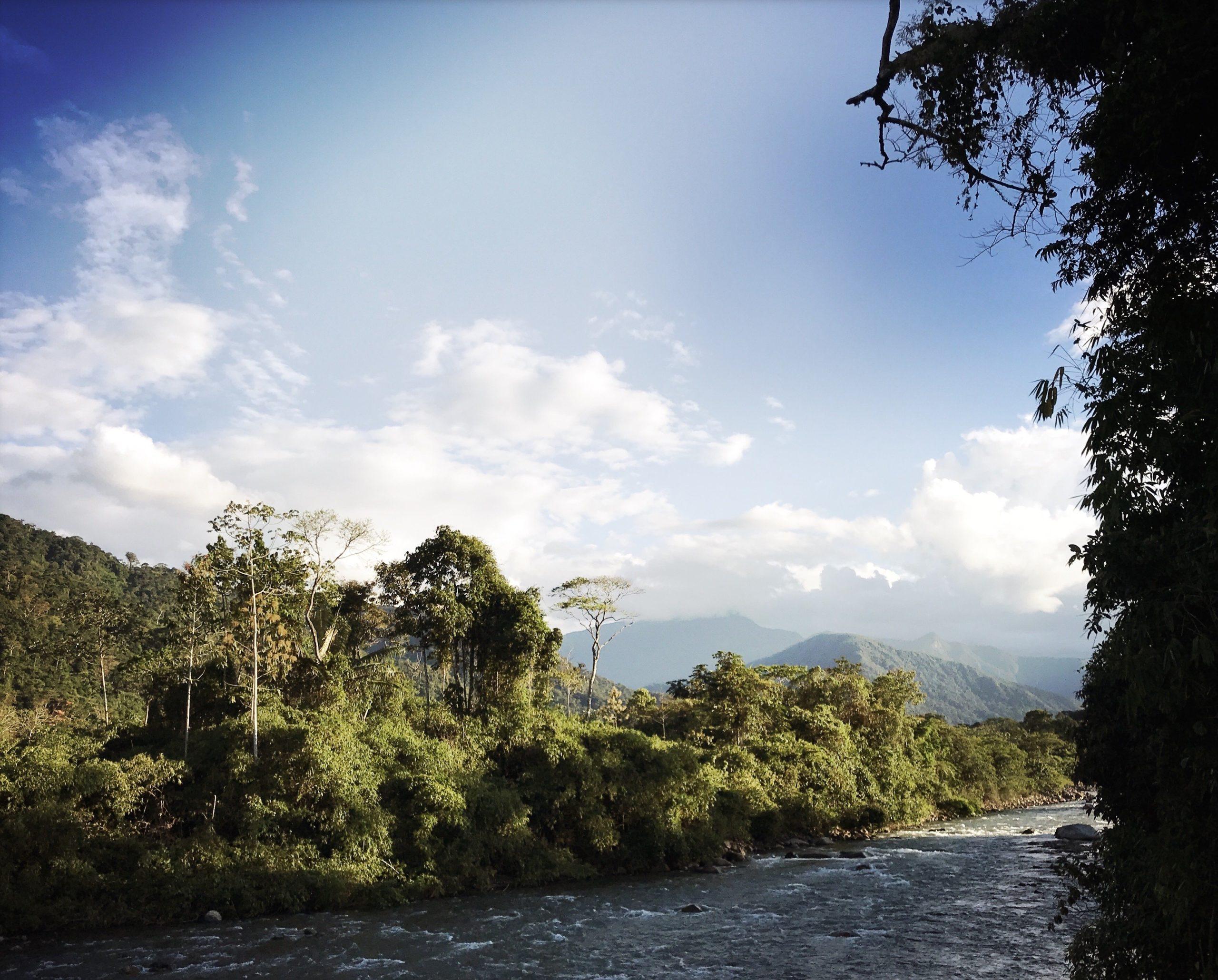 landscape river peru