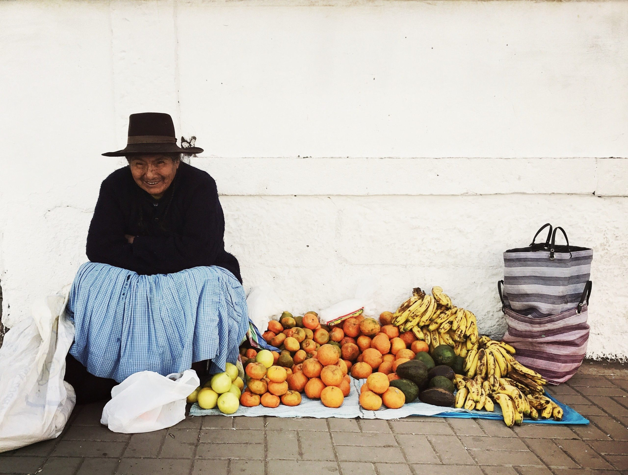 fruit seller in peru