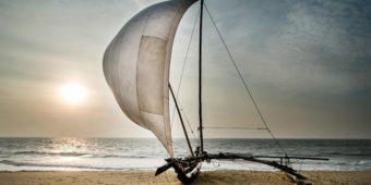 negombo sri lanka oruwa boat fisherman