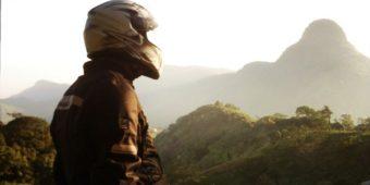 motorcycle trip sri lanka landscape biker mountain